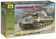 """Сборная модель Тяжёлый немецкий танк Т-VIB """"Королевский тигр"""" с башней Хеншель (1:35), ЗВЕЗДА"""