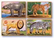 Деревянные пазлы Дикие животные, MELISSA&DOUG